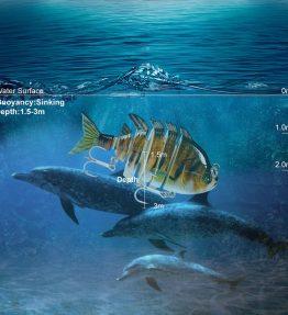 Swim Bait Six Sections Fishing Lures