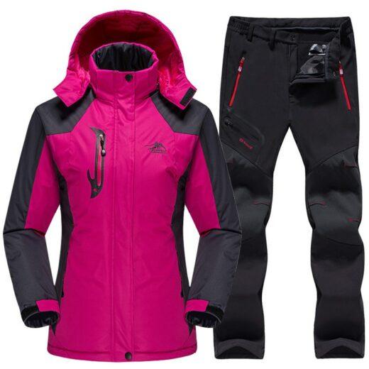 Winter Skiing Set Rose Black