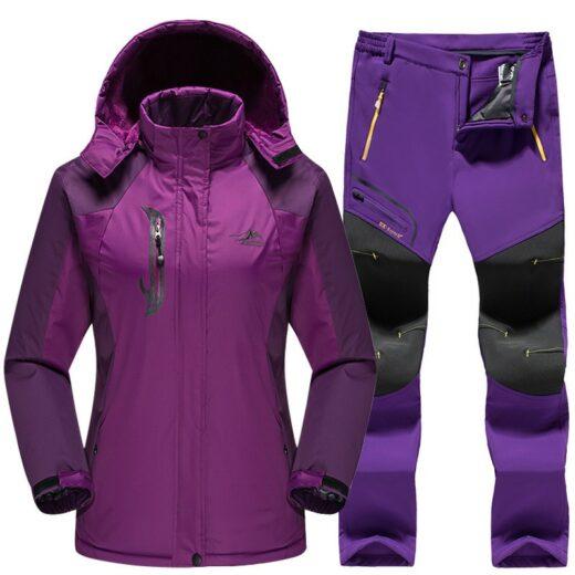 Winter Skiing Set Purple