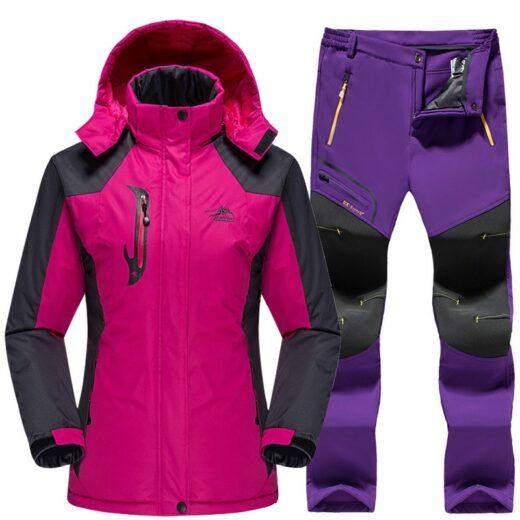 Winter Skiing Set Rose Purple