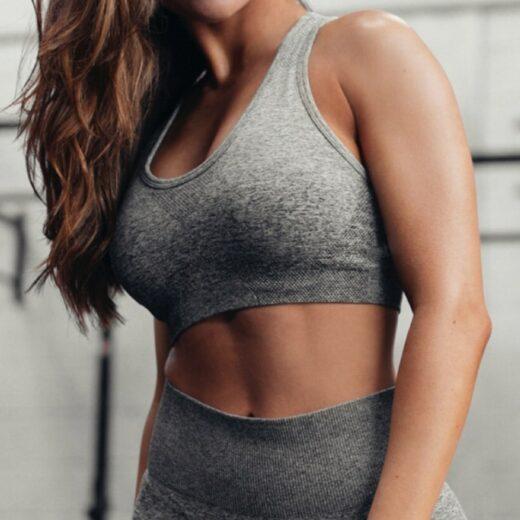 Women's Seamless Sports Bra Gray