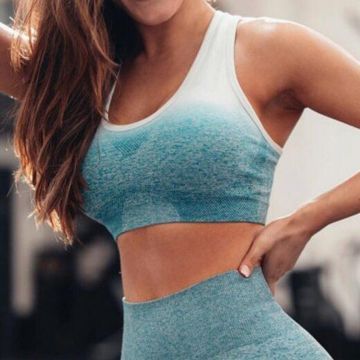 Women's Seamless Sports Bra Blue