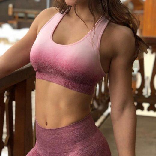 Women's Seamless Sports Bra Pink