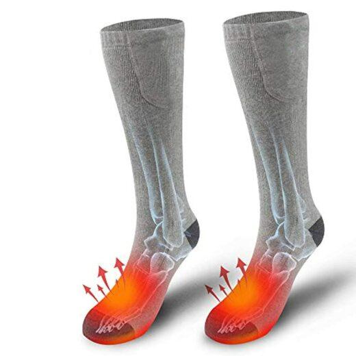 Electric-Heating Socks Gray