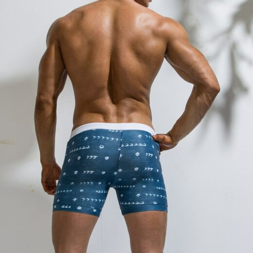Quick Drying Swimming Trunks Back