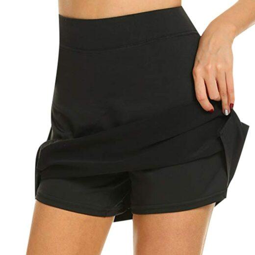 Performance Active Skorts Skirt. Skirts Womens Plus Size Pencil Skirts Womens Running Tennis Golf Workout Sports Black