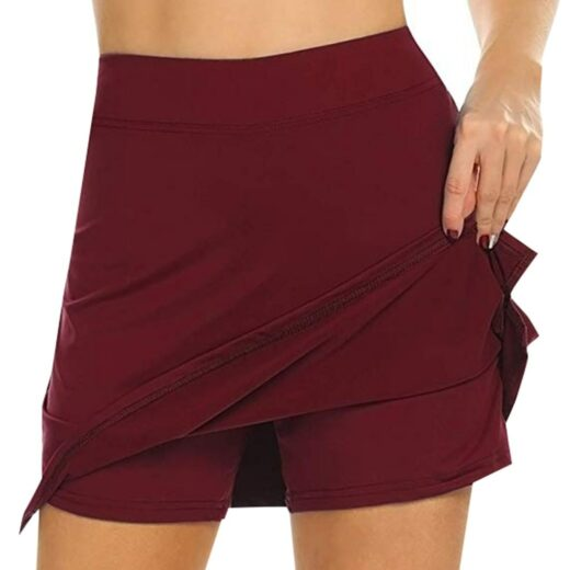 Performance Active Skorts Skirt. Skirts Womens Plus Size Pencil Skirts Womens Running Tennis Golf Workout Sports Whine Red
