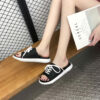 SAGACE Fashion Casual Shoes women Slippers women Print Beach Shoes Flat With Outdoor Slipper women Footwear