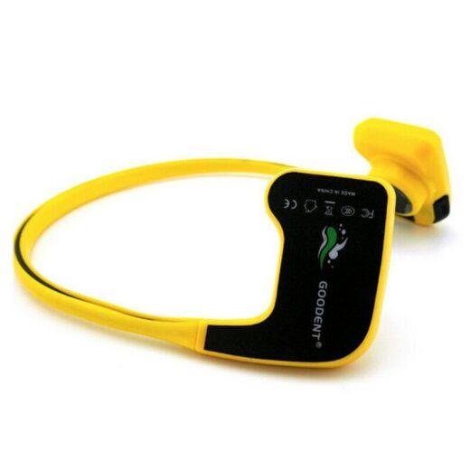 Winait Waterproof Bone Conduction Headset Digital Swimming mp3 Player Yellow