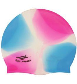 Unisex Colorful Silicone Swimming Cap