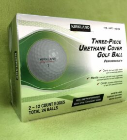 Kirkland Signature 3-piece Urethane Cover Golf Ball, 2-dozen