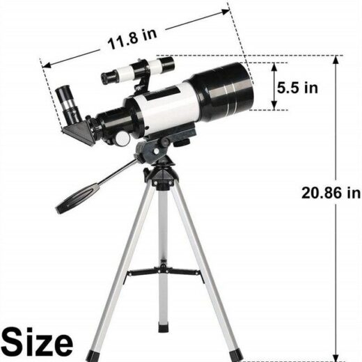 Terrestrial and Aastronomical telescope sizes