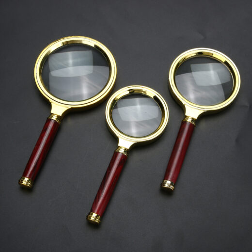 60-70-80mm 10X Portable Magnifying Glass Handheld Magnifier High Definition Reading Eye Loupe Magnifying Glass