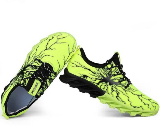 Sport Fashion Sneakers for Running Hiking Gym Yellow Green