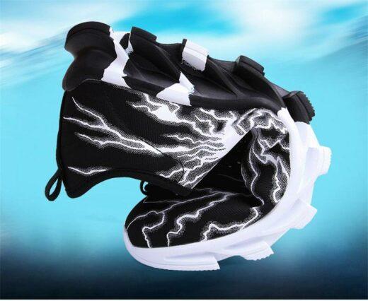 Sport Fashion Sneakers for Running Hiking Gym Black flex