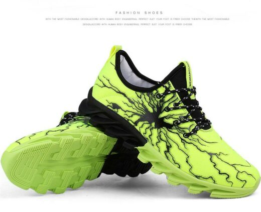 Sport Fashion Sneakers for Running Hiking Gym Green Featured