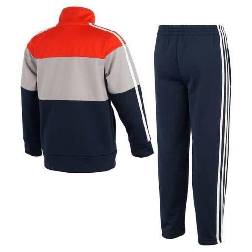 Adidas Kids 2-piece Active Set Navy orange and gray back
