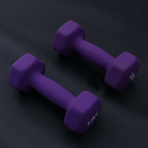 One Pair Exercise Dumbbells Frosted Dumbbells Lady Barbells Hand Bar For Yoga Fitness Photo