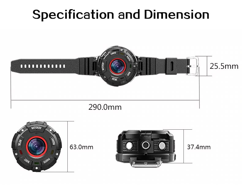Digital Watch Waterproof Specification and Dimension