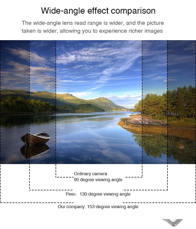 Digital Watch Waterproof Wearable Wide-angle effect comparison
