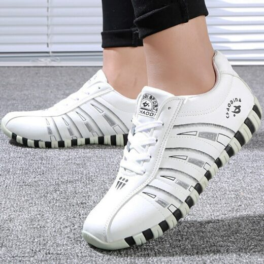 Women Sneakers Sports Shoes Woman Striped Lace-up Running Casual Women Trainers Comfortable White