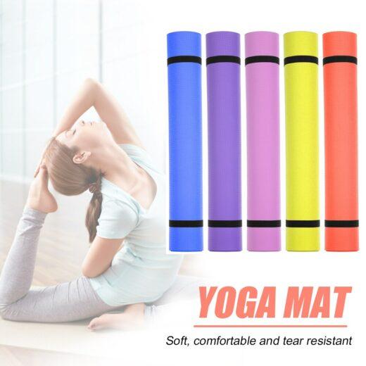 Yoga Mat EVA 1730x600x4mm Non-Slip Carpet Gym Sports Exercise Padsn for Beginner Senior Fitness Equipment Cover