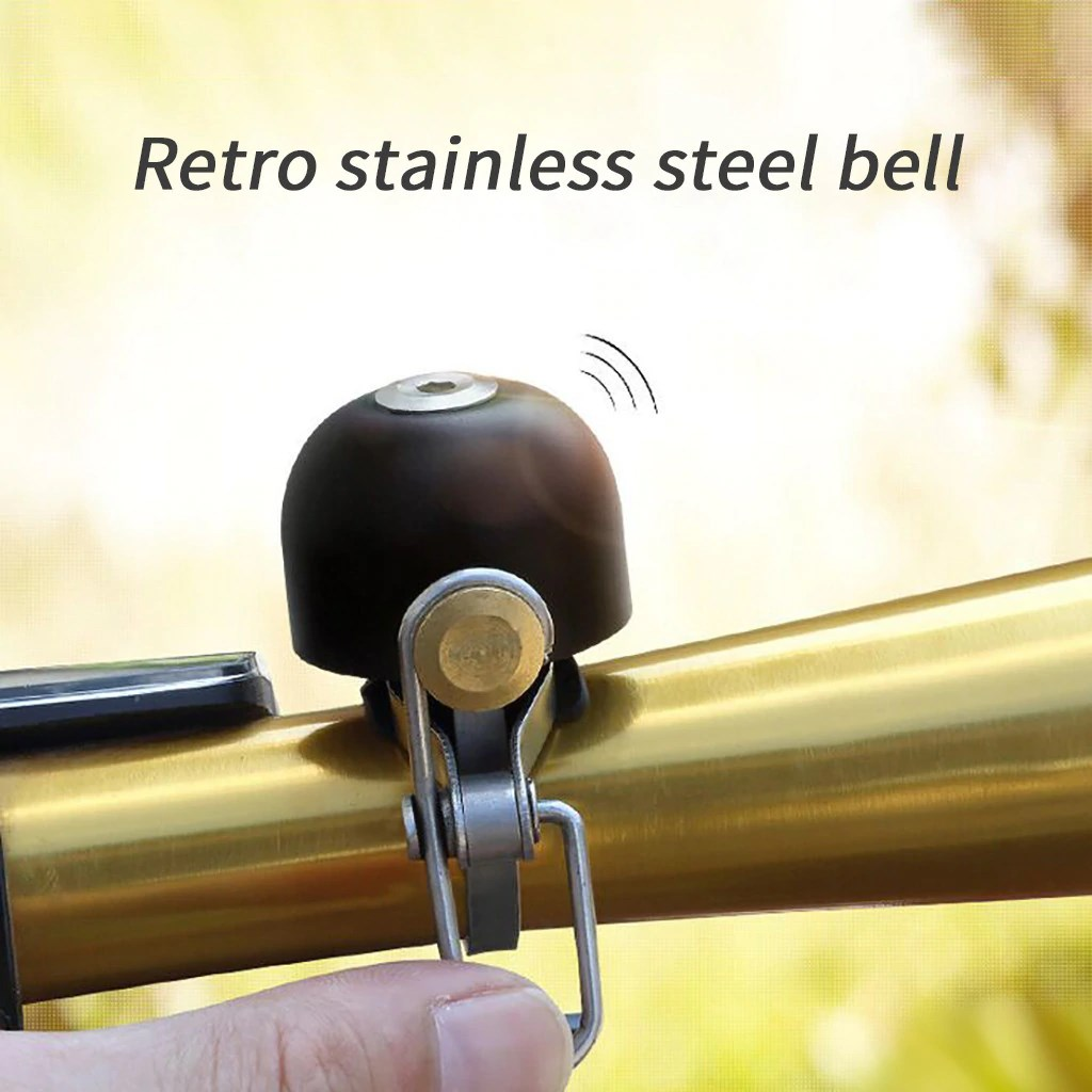 Classic Bicycle Handlebar Bell Retro Stainless Steel Bell