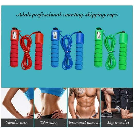 Adult professional counting skipping rope Slender arm Waistline Abdominal muscles Leg muscles