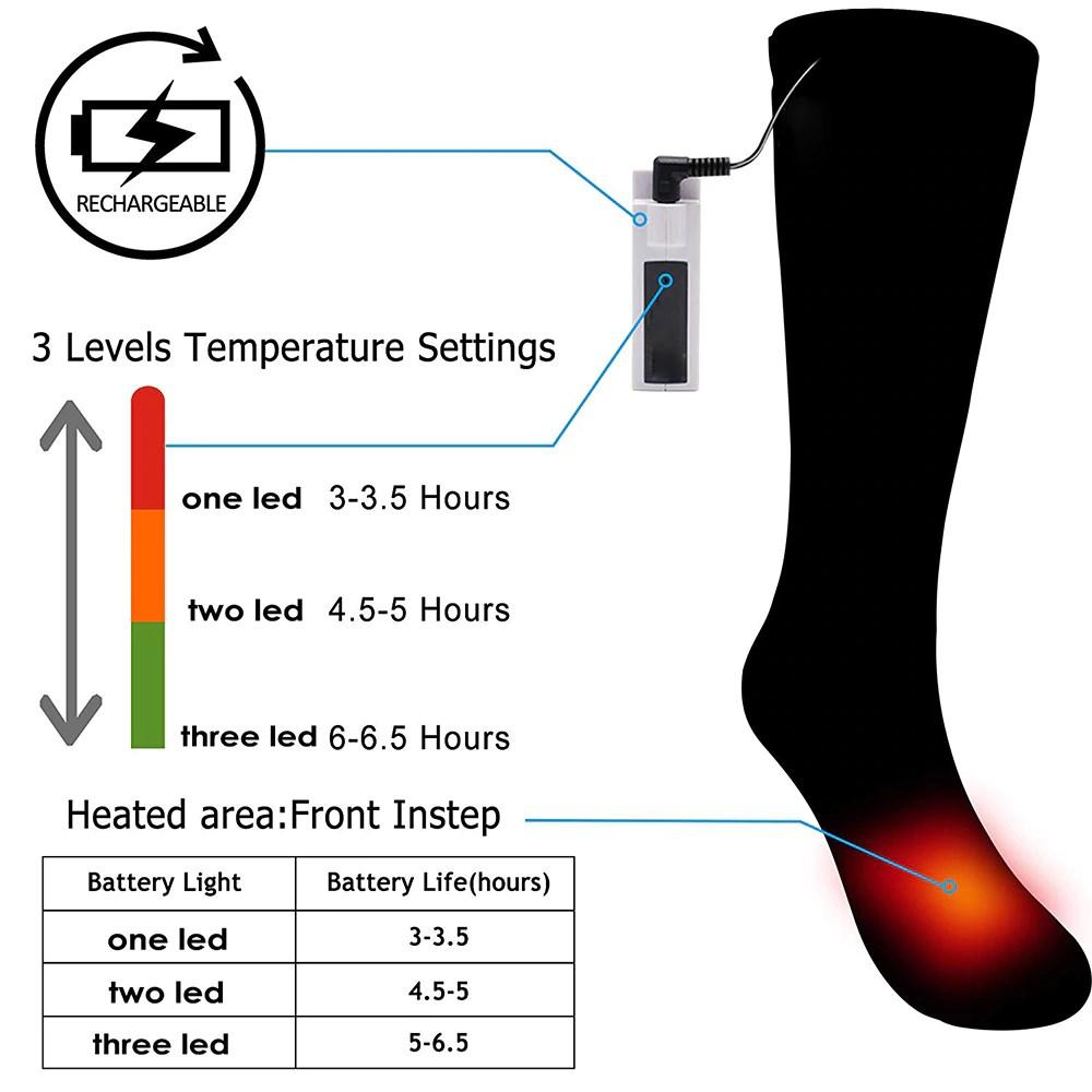 Electro Heating Socks 3 Levels Temperature Settings
