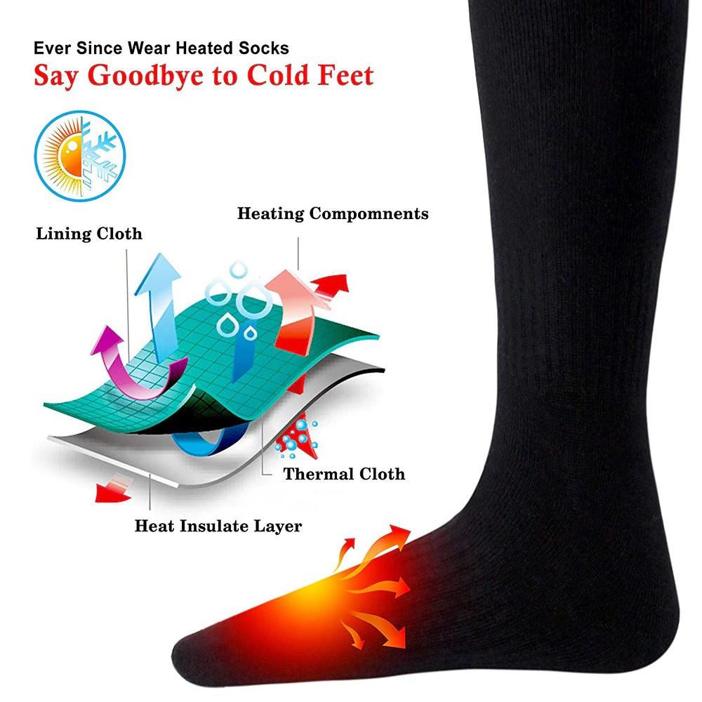 Electro Heating Socks. Say goodbye to cold feet