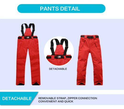 Waterproof windproof snow ski pants Details