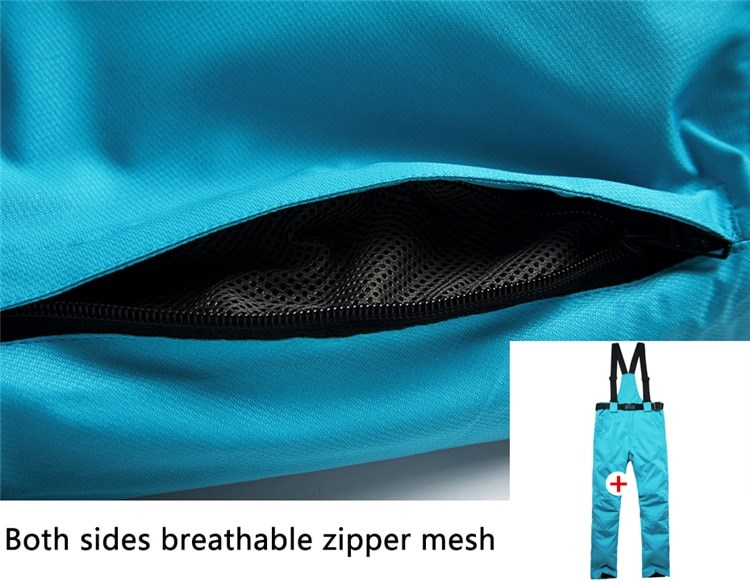 Ski Pants has both sides breathable mesh