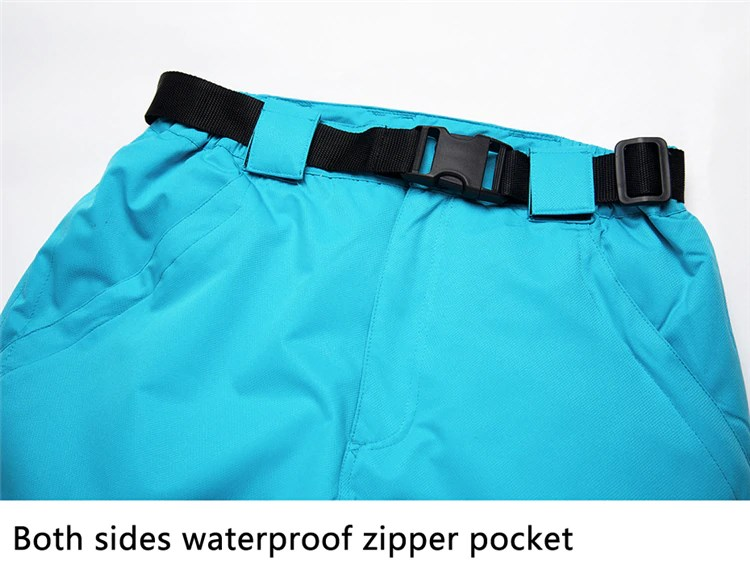 Ski Pants Pocket. Both sides waterproof zipper pocket
