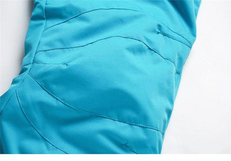 Ski Pants Three Dimensional Cutting of Knees