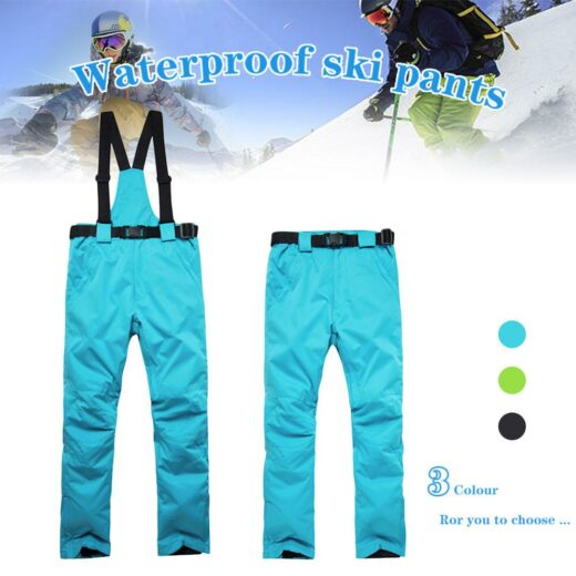 Ski Pants Men And Women Outdoor High Quality Windproof Waterproof Warm Couple Snow Trousers Winter Ski Pants