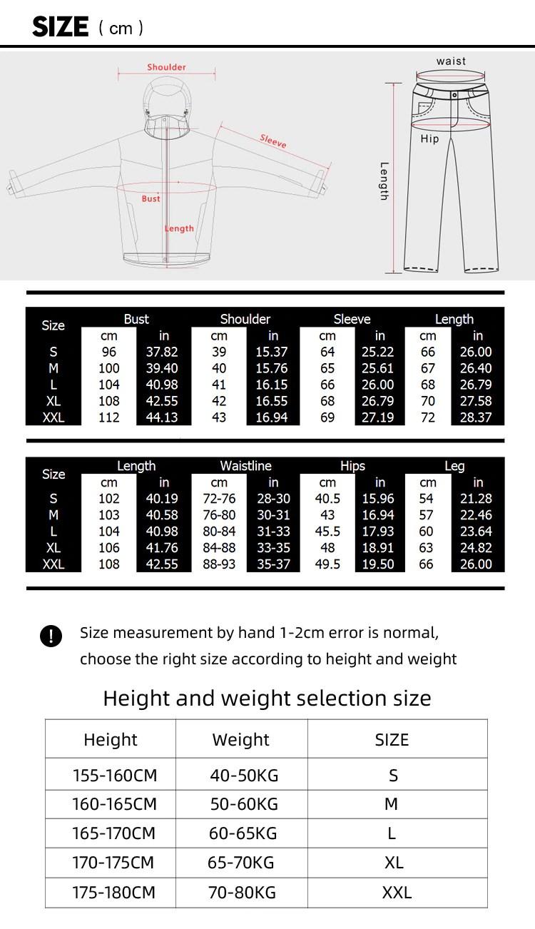 Ski Suit Sizes