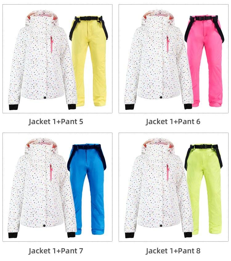 Women Ski Suit Variations