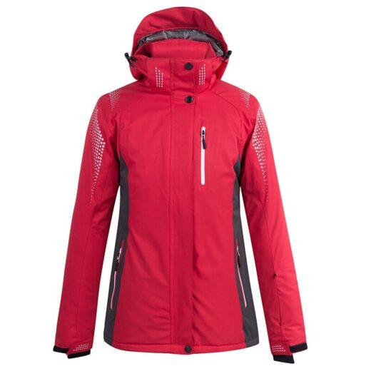 Red colors Women's Snow Wear Snowboarding -waterproof Breathable outdoor Sports Ski Jacket