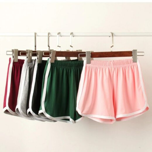 Women Summer Street Casual Short Pants Solid Soft Cotton Casual Female Stretch Shorts