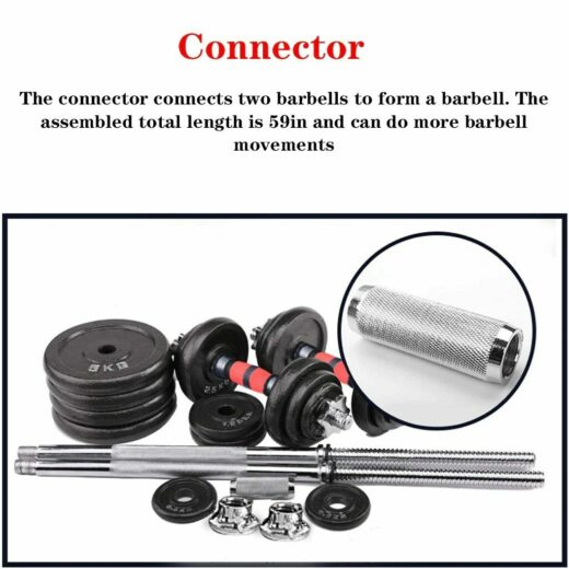 Home Gym Adjustable Weight Dumbbell Set Free Weight Set With Connecting Rod 50KG 110LB Adjustable Dumbell Connector