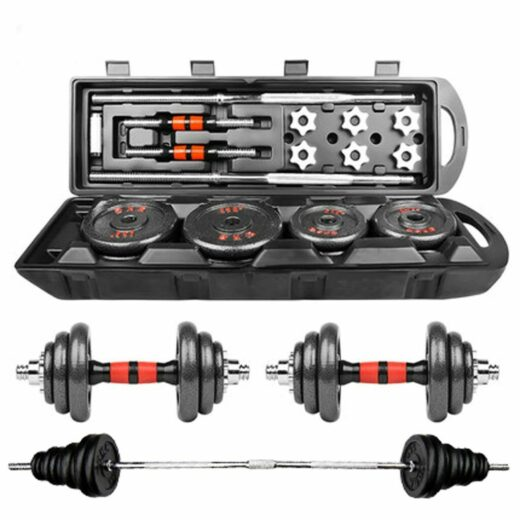 Home Gym Adjustable Weight Dumbbell Set Free Weight Set With Connecting Rod 50KG 110LB Adjustable Dumbell