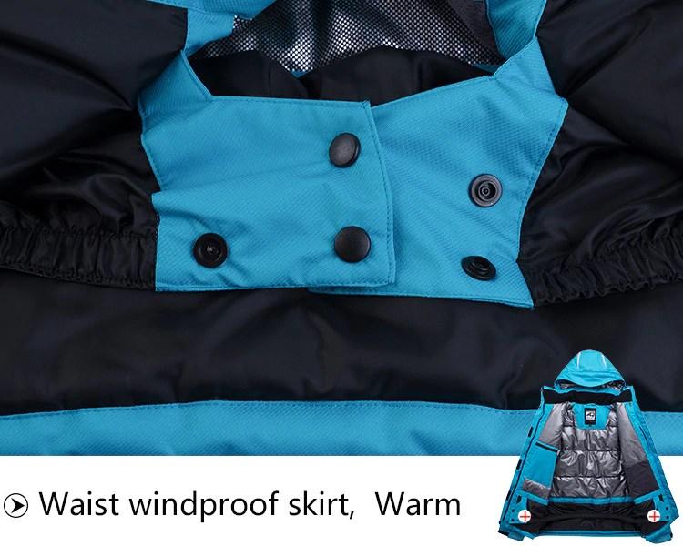 Sport Snow Jacket. Waist windproof skirt. Warm.