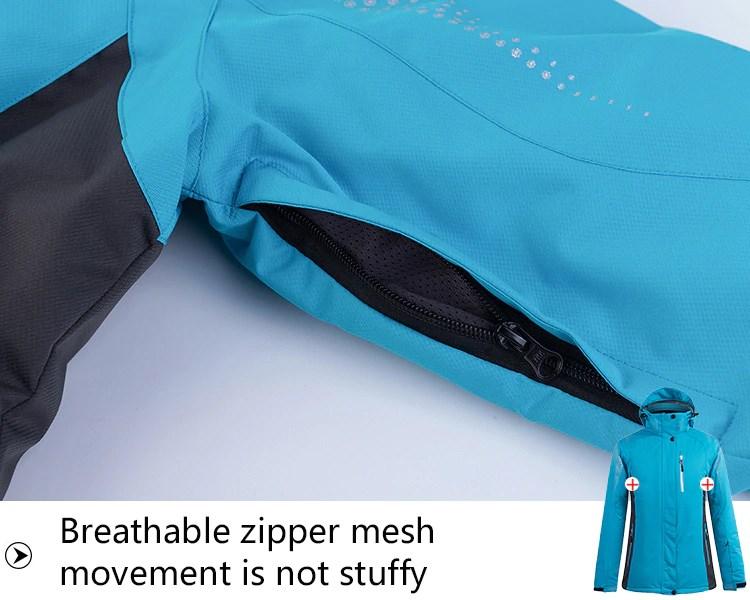 Sport Snow Jacket. Breathable zipper mesh. Movement is not stuffy.