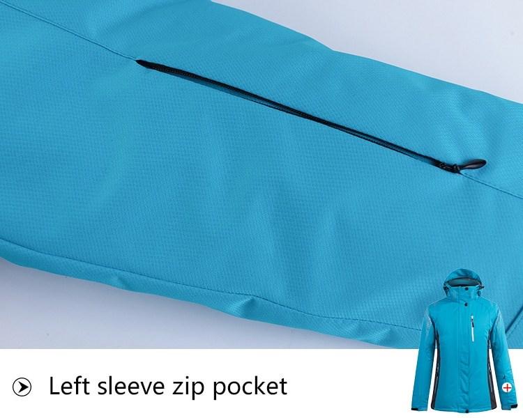 Sport Snow Jacket. Left sleeve zip pocket.