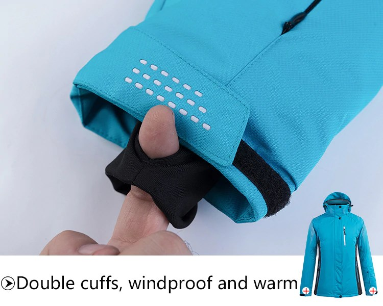 Sport Snow Jacket. Double cuffs. Windproof and warm.