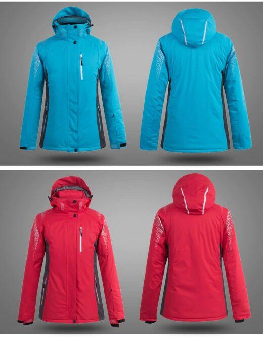 Blue Red Ski Jacket Show