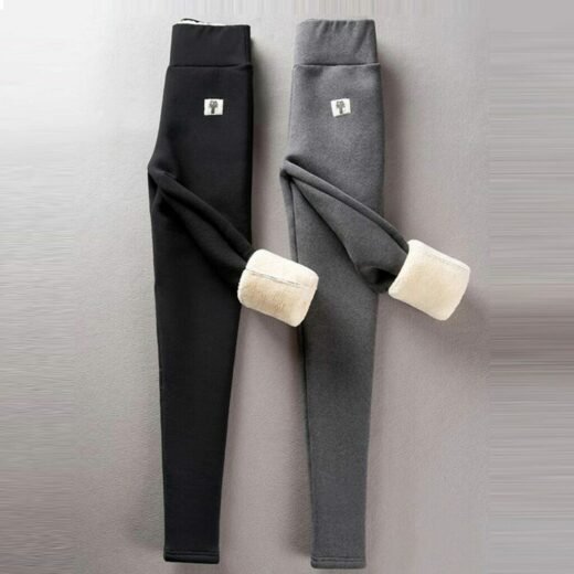 Winter High Elastic Thicken Lady s Leggings Warm Pants