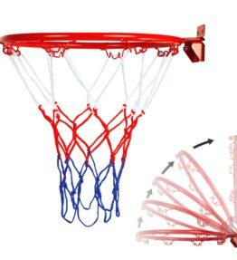 Steel Hanging Basketball Hoop and Net 32 cm