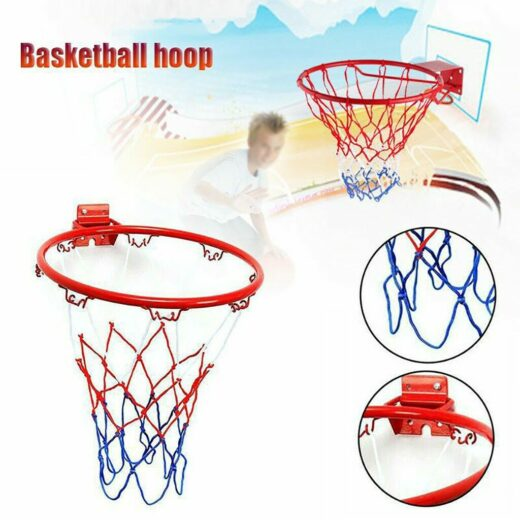 Steel Hanging Basketball Hoop and Net 32 cm (small)
