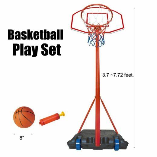 Children Hanging Basketball Stand